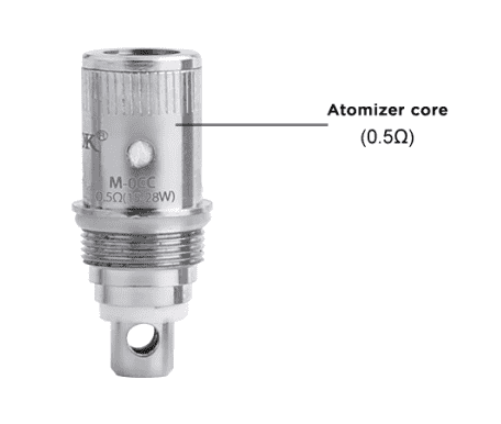 Single SMOK Micro Core OCC (M-occ) Replacement Coil for EGO Cloud One or ECT Tanks (0.5 Ohm)