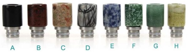 Multi-Color Jade Acrylic Drip Tip for 510 Threaded Subohm Tanks - Less Heat Transfer