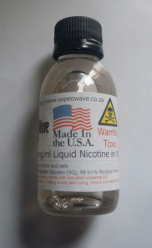 USA Lab 100ml 36mg/ml Unflavoured Liquid Nicotine Base in VG 99.8+% Purity for DIY Eliquid / Ejuice / Self Mixing