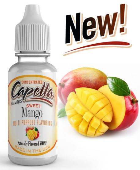 Capella 10ml Concentrated Sweet Mango Flavor for Eliquid / Ejuice DIY / Self Mixing