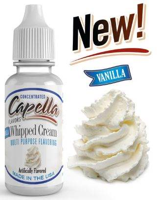 Capella 10ml Concentrated Vanilla Whipped Cream Flavor for Eliquid / Ejuice DIY / Self Mixing