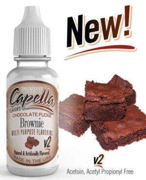 Capella 10ml Concentrated Chocolate Fudge Brownie v2 Flavor for Eliquid / Ejuice DIY / Self Mixing