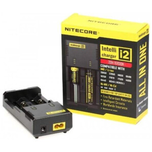 Nitecore I2 2 Port Intelligent Battery Charger for 18650, AA, AAA Batteries