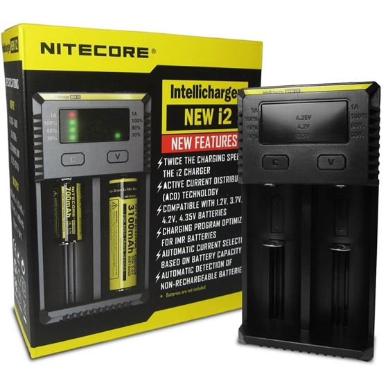Nitecore I2 Charger | 2 Port Intelligent Battery Charger **New 2020 Model**