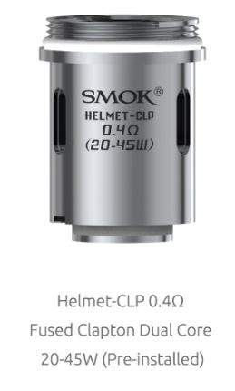 Smok Helmet-CLP Fused Clapton Dual Coil - 0.4Ohm, 20-45 Watt (for OSub 40w TC)