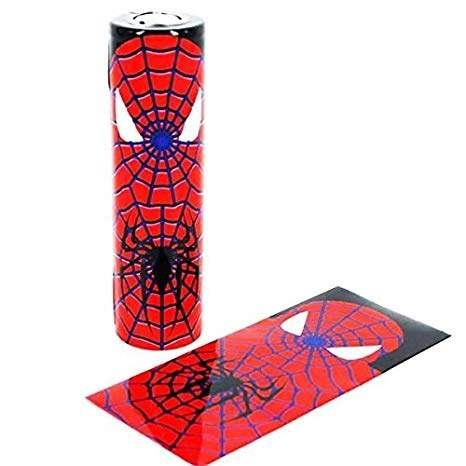 18650 Superhero battery wraps - Spiderman Single wrap-0