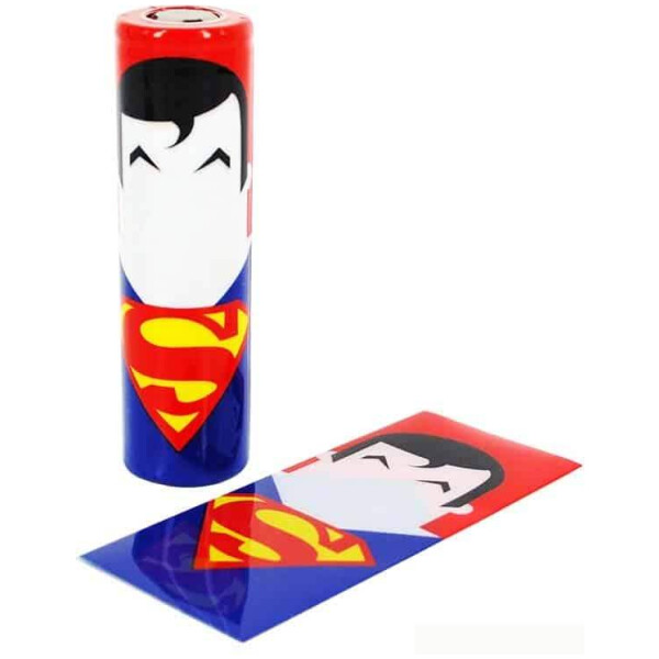 18650 Superhero battery wraps - Superman Single wrap-0