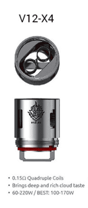 SMOK TFV12 Replacement Coils - TFV12-X4 Single Coil-0