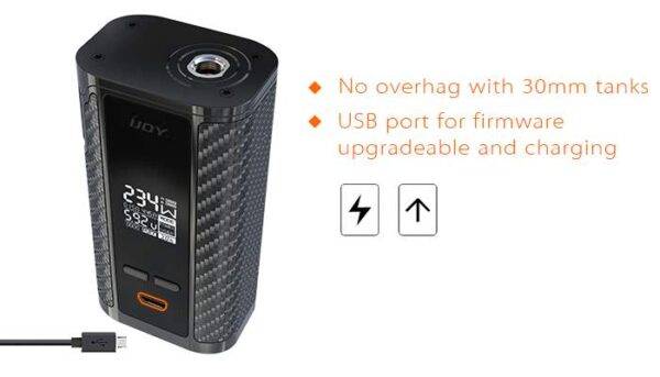 IJOY CAPTAIN PD270 BOX MOD 2X 20700 BATTERIES INCLUDED - Black-2060