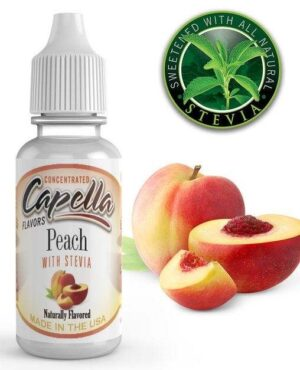 Capella 10ml Concentrated Peach with Stevia (Sweet Peach) Flavor for Eliquid / Ejuice DIY / Self Mixing