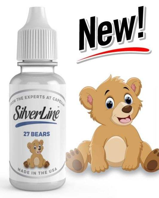 Capella 10ml Concentrated 27 Bears (Sweet Gummy) Silverline Series Flavor for Eliquid / Ejuice DIY / Self Mixing