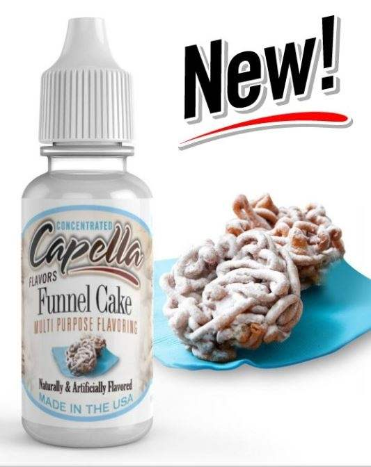 Capella 10ml Concentrated Funnel Cake Flavor for Eliquid / Ejuice DIY / Self Mixing
