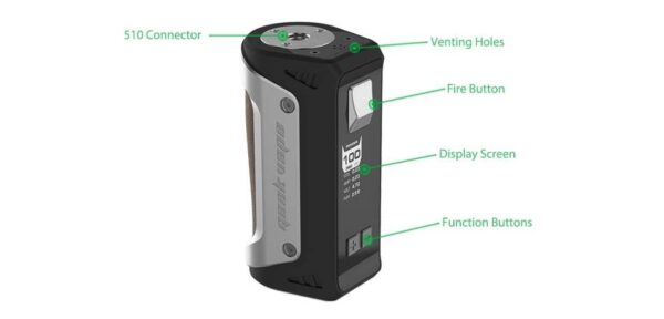 GeekVape Aegis 100W Mod + 26650 Battery -Black-2577