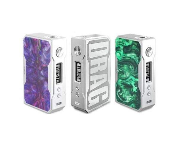 VooPoo DRAG 157W TC Box mod with Gene Chip - Silver Frame-0