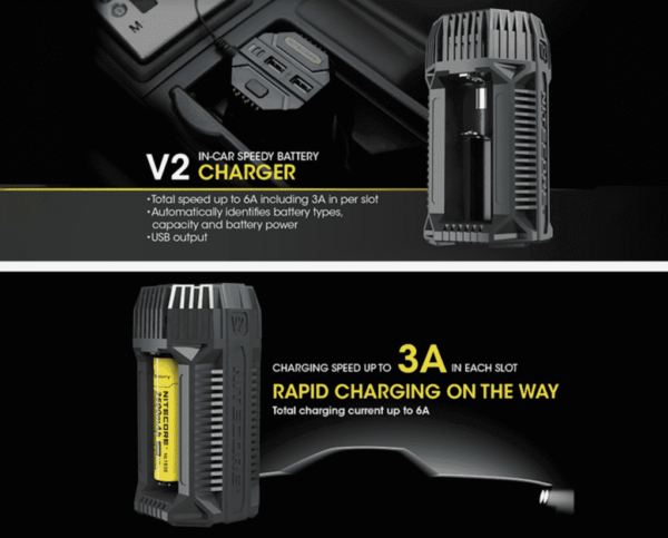 Nitecore V2 In-car 3A Quick Charger-2755