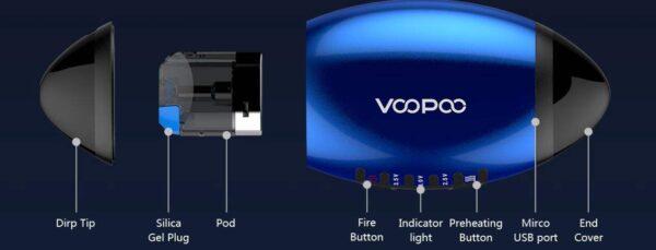 Voopoo VFL Refillable Pod System Kit 650mah-2882