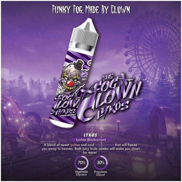 Gallo Lychee Blackcurrant by The Fog Clown E Liquid 60ml -0