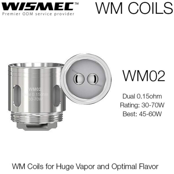 Wismec WM02 0.15 OHM - Single Coil Head-0