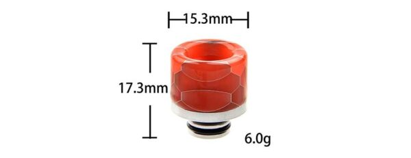Noctilucent 510 Resin and Stainless Steel Drip Tip-3255