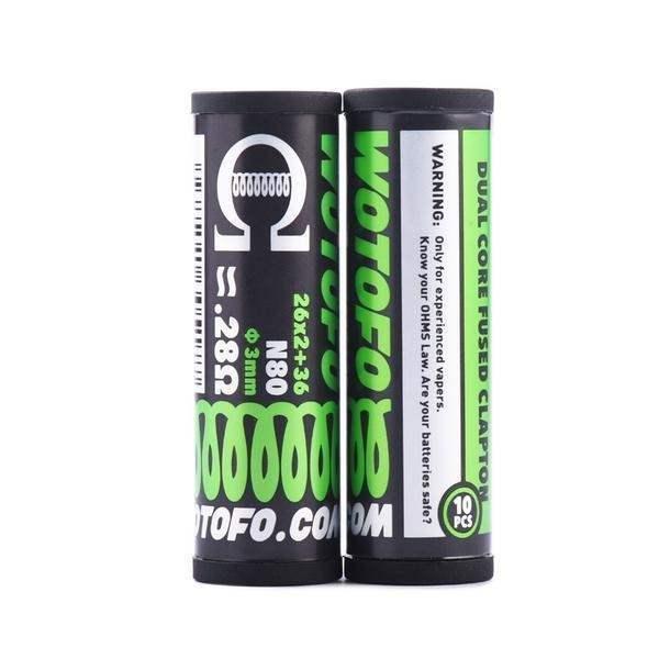 Wotofo Dual Core Fused Clapton 0.28Ohm Prebuild Wire 10pcs/pack-0