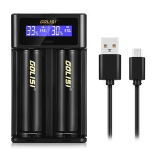 Golisi I2 2A Smart USB Charger with LCD Screen