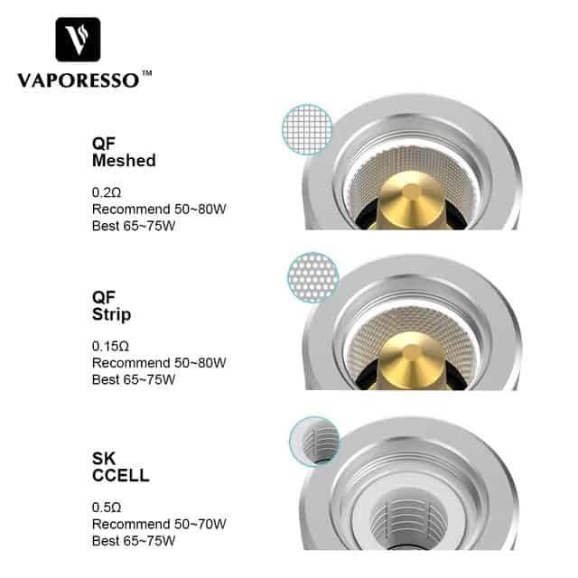 Vaporesso SKRR Replacement QF Strips 0.15Ohm Coil