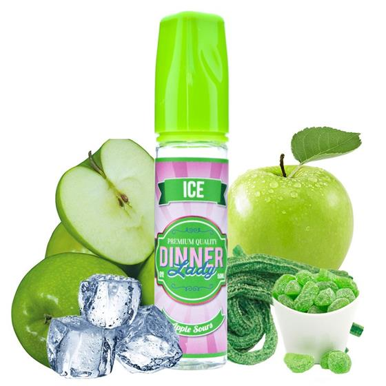 Tuck Shop by Dinner Lady Apple Sours ICE | 60ml 3mg
