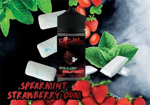 Spearmint Strawberry Gum | LiquidKiss | 100ml 2mg