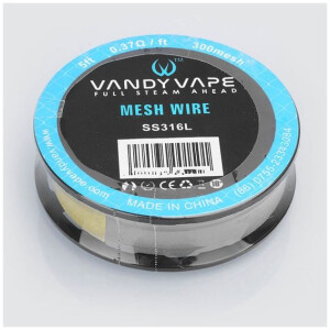 Vandy Vape SS316L Cut to Length Mesh Roll | 1.5 Meter Roll | 0.37 ohm/ft 300 Mesh