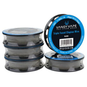 Vandy Vape Cut-to-length NI80 Triple Fused Clapton Wire Roll | 27GAx 3+38ga 10ft