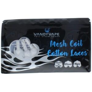 Vandy Vape Shoelace Mesh Cotton   10pcs Per Pack