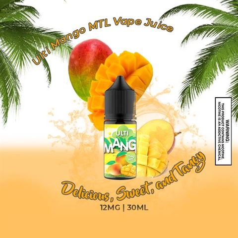 Ulti Mango   One Cloud MTL  12mg 30ml