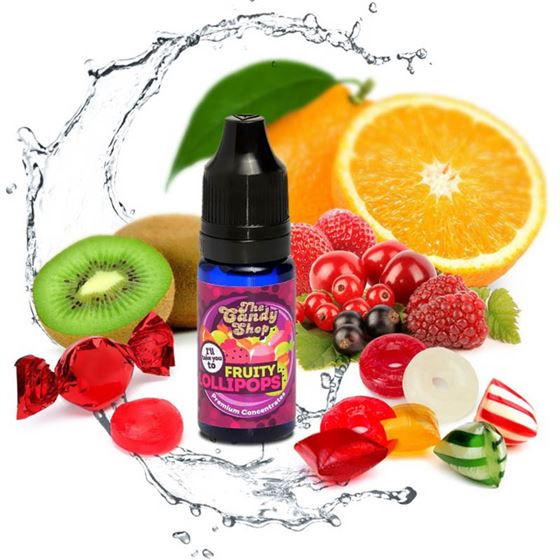Big Mouth Fruity Lollipops | 10ml One Shot Concentrated Flavour | Makes 100ml Eliquid