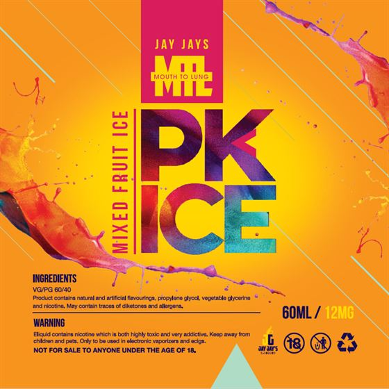 PK Ice Mixed Fruit | Jay Jays | MTL | 12mg 60ml