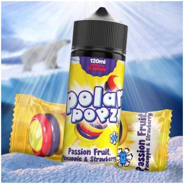 Passion Fruit, Pinapple & Strawberry | Polar Popz | 120ml 2mg
