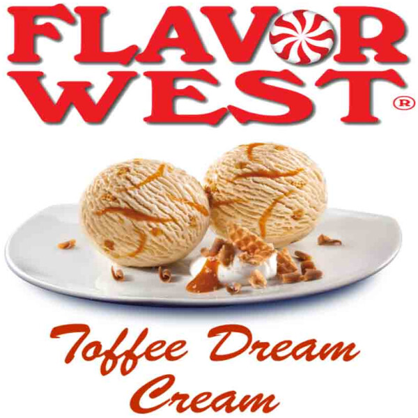 Flavor West Toffee Dream Cream | 10ml Concentrated Flavor for DIY | Self Mixing