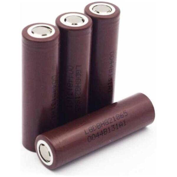 LG HG2 INR 18650 | 3000mAh 3.6V | High-Drain 20A Lithium Ion | Flat Top Battery